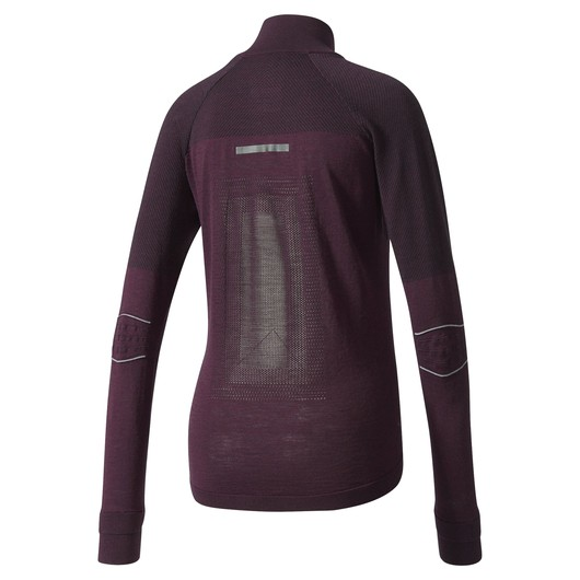 adidas Climaheat Primeknit Zip W FW17 Uzun Kollu Kadın Tişört