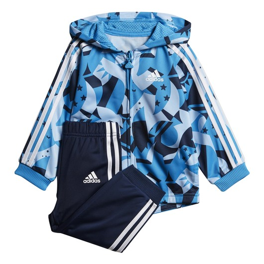 adidas Shiny Jogger Full Zip Hoodie Infant Kapüşonlu Bebek Eşofman Takımı