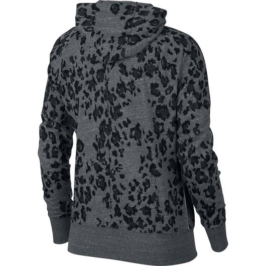 Nike Sportswear GYM Vintage Leopard Full- Zip Kapüşonlu Kadın Ceket