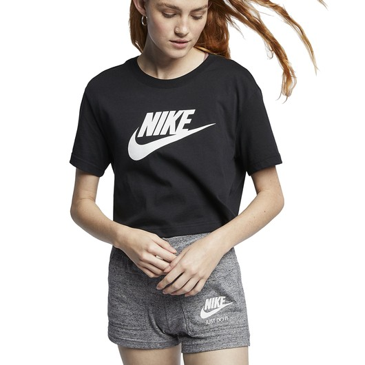 Nike Sportswear Essential Cropped Icon Futura Kadın Tişört
