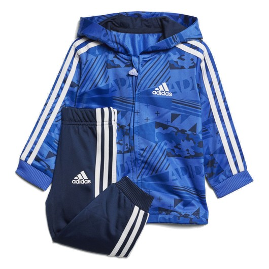 adidas I E Shiny Full Zip Hooded Jogger Çocuk Eşofman Takımı