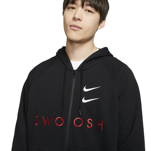 Nike Sportswear Swoosh Full-Zip French Terry Hoodie Erkek Sweatshirt