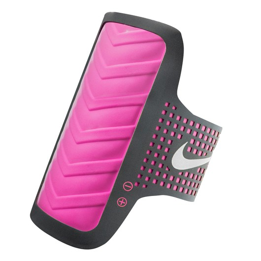 Nike Women's Distance Arm Band Apple Anthracite/Pink Pow