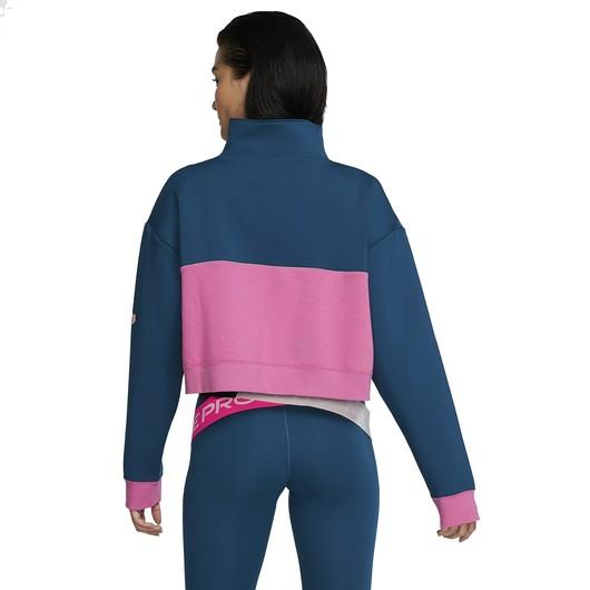 Nike Pro Get Fit Fleece 1/2-Zip Kadın Sweatshirt