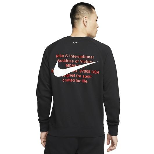 Nike Sportswear Swoosh French Terry Crew Erkek Sweatshirt