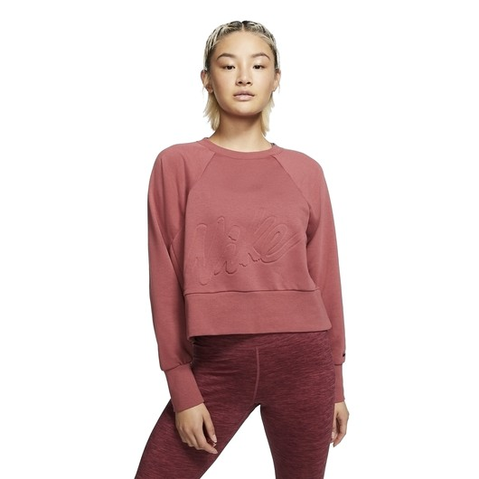 Nike Dri-Fit Fleece Get Fit Lux Crew Kadın Sweatshirt