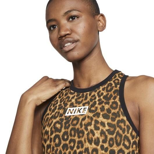Nike Dri-Fit Leopard Crop Training Tank Kadın Atlet