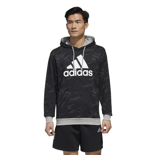 adidas Essentials Allover Print Hoody Erkek Sweatshirt