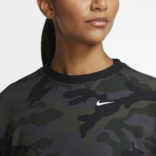 Nike Dri-Fit Get Fit Camouflage Training Crew Kadın Sweatshirt