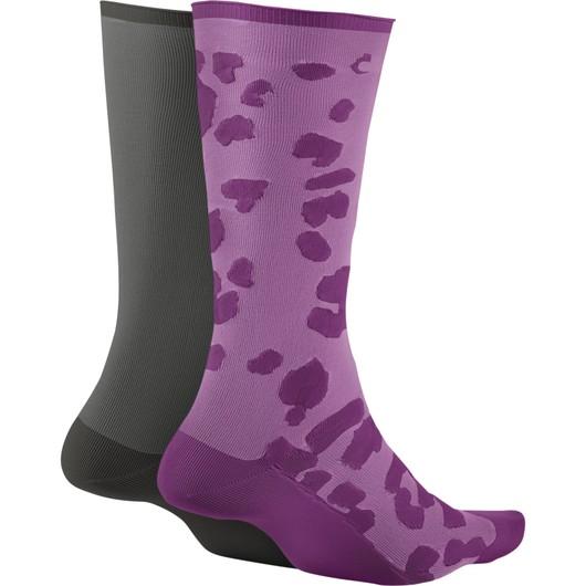 Nike Training Sheer Ankle Leopard (2 Pairs) Kadın Çorap