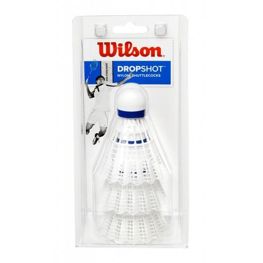 Wilson Dropshot Nylon (3 Pair) Badminton Topu