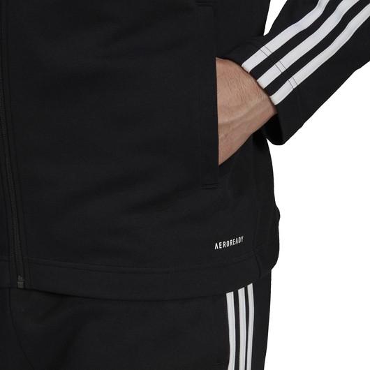 adidas Sportswear Ribbed Insert Tracksuit Full-Zip Hoodie Erkek Eşofman Takımı