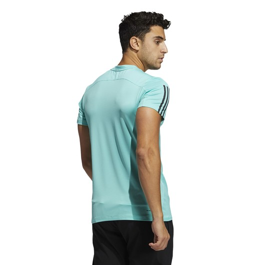 adidas Primeblue AEROREADY 3-Stripes Slim Short-Sleeve Erkek Tişört