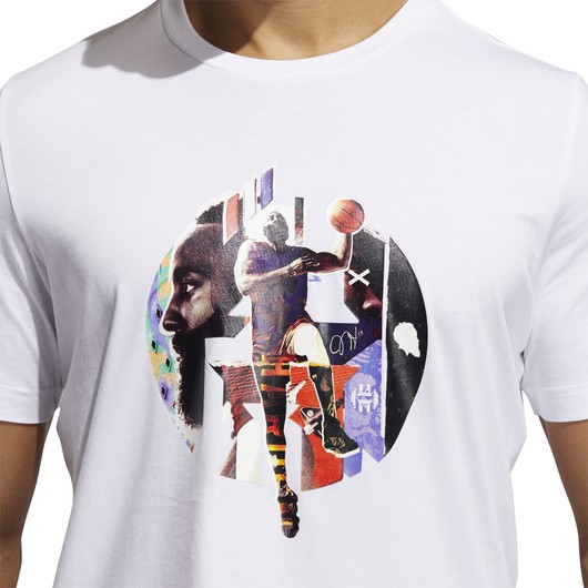 adidas James Harden Abstract Short-Sleeve Erkek Tişört