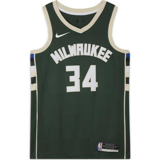 Nike Giannis Antetokounmpo Bucks Icon Edition 2020 NBA Swingman Jersey Erkek Forma
