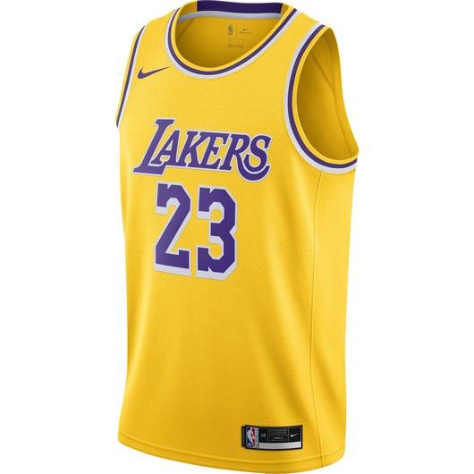Nike LeBron James Lakers Icon Edition 2020 NBA Swingman Jersey Erkek Forma