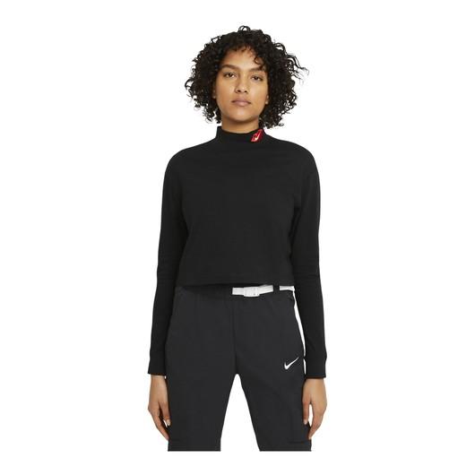 Nike Sportswear Cropped Mock Long-Sleeve Kadın Tişört