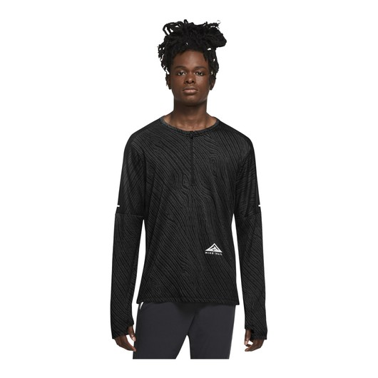 Nike Dri-Fit Element 1/2 Zip Trail Long-Sleeve Erkek Tişört