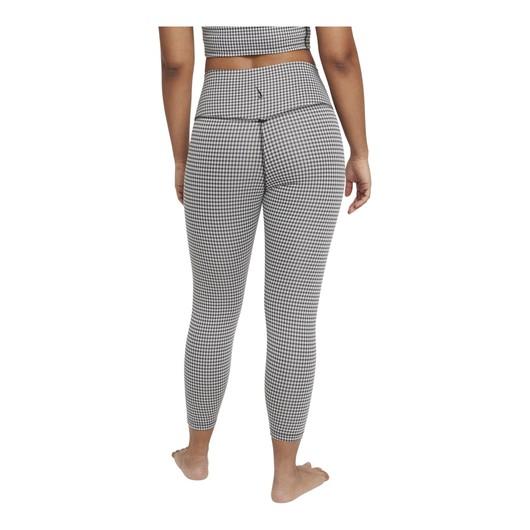 Nike Yoga High-Waisted Crop Gingham Leggings Kadın Tayt