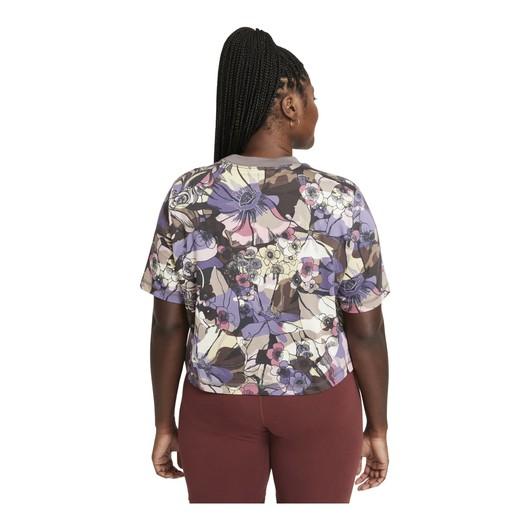 Nike Sportswear Floral Cropped Short-Sleeve Kadın Tişört
