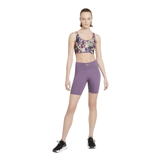 Nike Swoosh Strappy Medium-Support 1-Piece Pad Floral Sports Kadın Büstiyer