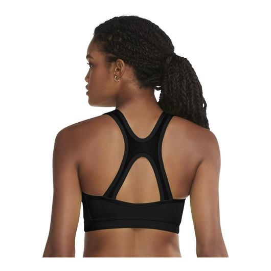 Nike Dri-Fit Swoosh Icon Clash Medium-Support 1-Piece Pad V-Neck Sports Kadın Büstiyer