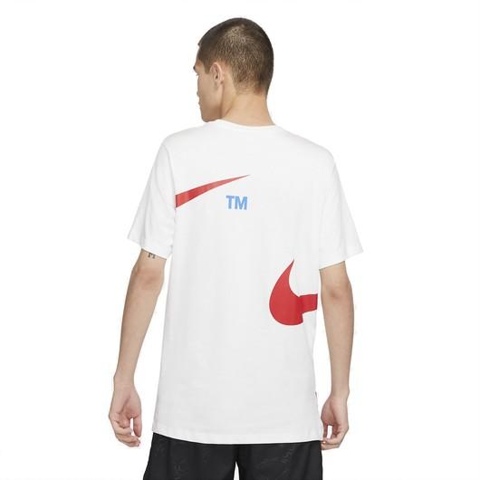 Nike Sportswear Swoosh Pullover Semi-Brushed-Back Short-Sleeve Erkek Tişört