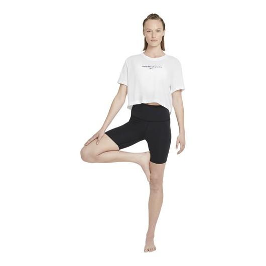 Nike Yoga Cropped Graphic Short-Sleeve Kadın Tişört