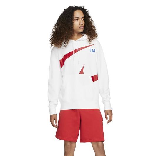 Nike Sportswear Swoosh Pullover Semi-Brushed-Back Hoodie Erkek Sweatshirt