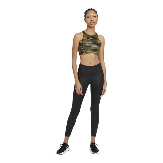 Nike Dri-Fit Swoosh Camouflage Printed Medium-Support 1-Piece Kadın Büstiyer