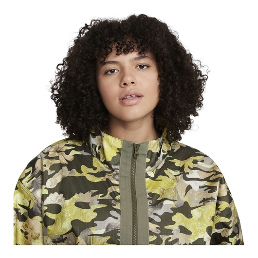 Nike Sportswear Woven Flover & Camouflage Print Pack Full-Zip Kadın Ceket