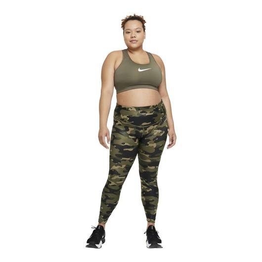 Nike Dri-Fit One Mid-Rise Camouflage Printed Training Kadın Tayt