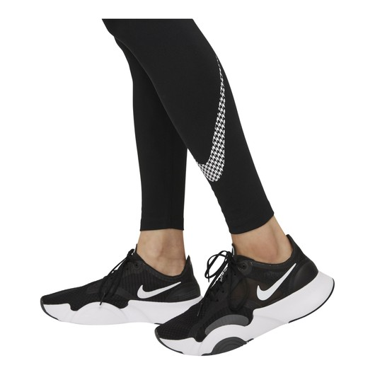Nike Dri-Fit One Icon Clash Mid-Rise Graphic Kadın Tayt