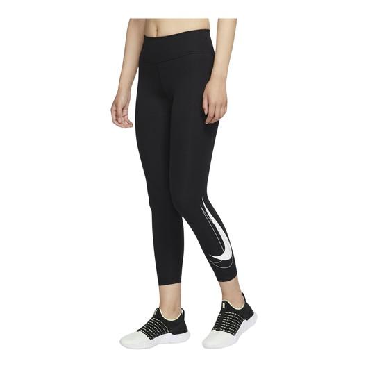 Nike Dri-Fit Swoosh Run Mid-Rise 7/8 Running Kadın Tayt