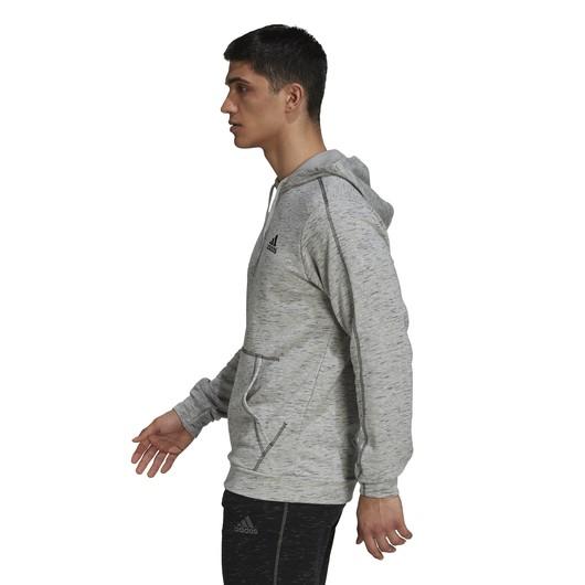adidas Essentials Melange Embroidered Hoodie Erkek Sweatshirt