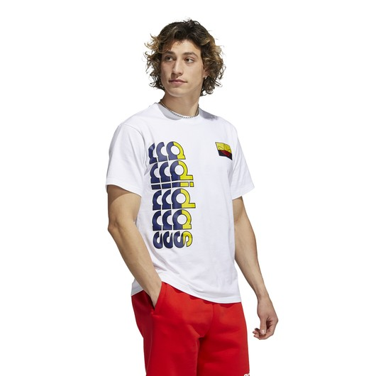 adidas Logo Play Badge Short Sleeve Erkek Tişört