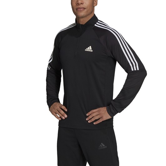 adidas AEROREADY Sereno Cut 3-Stripes Slim 1/4-Zip Training FW21 Long-Sleeve Erkek Tişört