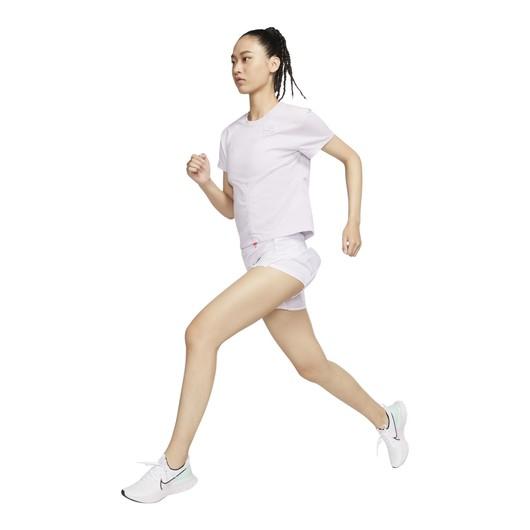 Nike Dri-Fit Run Division Short-Sleeve Ruched Short-Sleeve Kadın Tişört