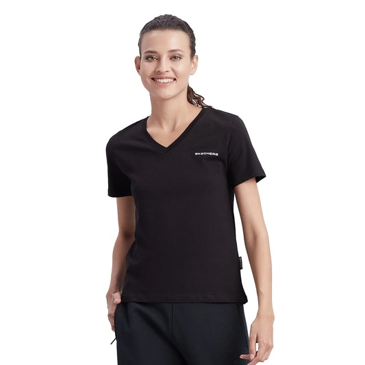 Skechers New Basics V-Neck Short-Sleeve Kadın Tişört