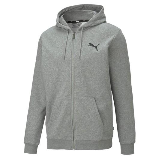 Puma Essentials Small Logo Full-Zip Hoodie Erkek Sweatshirt
